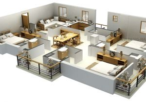 3d Plan Home Impressive Floor Plans In 3d Home Design