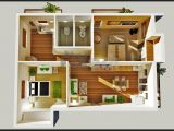3d Small Home Plan Ideas 2 Bedroom House Plans Designs 3d Small House Home Design