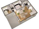3d Small Home Plan Ideas 3d Floor Plans 3d Floor Plan isometric Small Home Plan