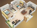 3d Small Home Plan Ideas attractive Simple House Design Plans 3d 2 Bedrooms Ideas