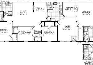 4 5 Bedroom Mobile Home Floor Plans 4 Bedroom Modular Home Plans Smalltowndjs Com