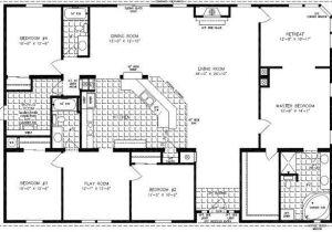 4 5 Bedroom Mobile Home Floor Plans 4 Bedroom Modular Homes Floor Plans Bedroom Mobile Home