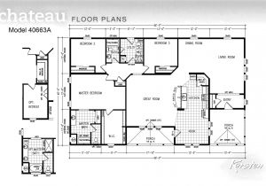 4 5 Bedroom Mobile Home Floor Plans Manufactured Homes 5 Bedroom Floor Plans