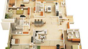 4 Bdrm House Plans 4 Bedroom Apartment House Plans