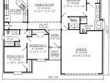 4 Bedroom 2 Bath 2 Car Garage House Plans 3 Bedroom House Plan with Double Garage 2 Bedroom House