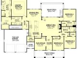4 Bedroom 2 Bath 2 Car Garage House Plans Craftsman Style House Plan 4 Beds 3 Baths 2639 Sq Ft