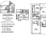 4 Bedroom 2 Bath 2 Car Garage House Plans Narrow Monte Smith Designs House Plans