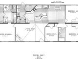 4 Bedroom 2 Bath Mobile Home Floor Plans 4 Bedroom Floor Plan C 9807 Hawks Homes Manufactured