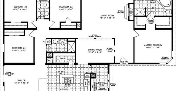 4 Bedroom 2 Bath Mobile Home Floor Plans Four Bedroom Mobile Homes L 4 Bedroom Floor Plans
