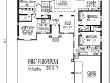 4 Bedroom 3 Bath House Plans with Basement 3500 Sf 4 Bedroom Single Story Home Plan 3 Bath Basement