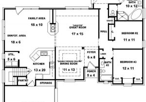 4 Bedroom 3 Bath House Plans with Basement Bedroom Bath House Plan Plans Floor Bathroom with 2 Open