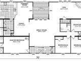 4 Bedroom Double Wide Mobile Home Floor Plans Triple Wide Mobile Home Floor Plans Manufactured Home