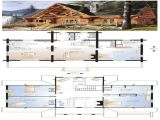 4 Bedroom Log Home Floor Plans Log Cabin Floor Plans with 2 Master Suites Little Log
