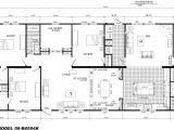 4 Bedroom Mobile Home Floor Plans 4 Bedroom Floor Plan B 6594 Hawks Homes Manufactured