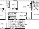 4 Bedroom Mobile Home Floor Plans Four Bedroom Mobile Homes L 4 Bedroom Floor Plans