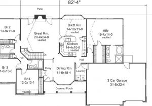 4 Bedroom Ranch Home Plans 4 Bedroom 3 Bath House Plans Homes Floor Plans