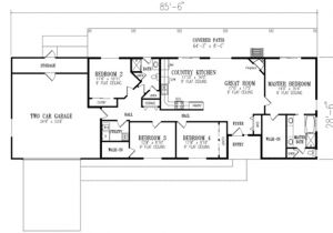 4 Bedroom Ranch Home Plans Ranch Style House Plan 4 Beds 2 00 Baths 1720 Sq Ft Plan