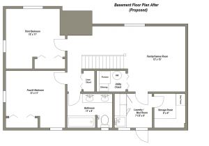 4 Bedroom Ranch House Plans with Walkout Basement Finished Basement Floor Plans Finished Basement Floor