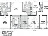 4 Bedroom Single Wide Mobile Home Floor Plans 4 Bedroom Double Wide Trailers Floor Plans Mobile Homes