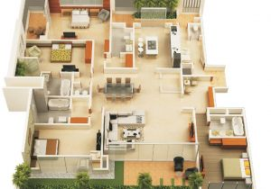 4 Br House Plans 4 Bedroom Apartment House Plans
