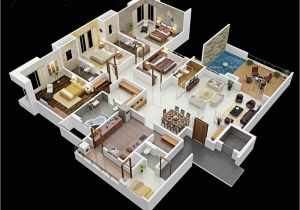 4 Br House Plans 50 Four 4 Bedroom Apartment House Plans Architecture