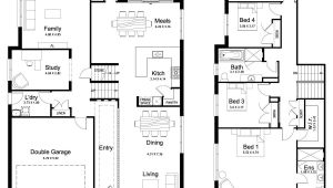 4 Level Home Plans Floor Plan Friday Split Level 4 Bedroom Study