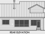 40 Foot Wide Lot House Plans 40 Ft Wide Narrow Lot House Plan W Master On the Main Floor