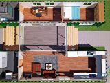 40 Ft Container House Plans Sch15 2 X 40ft Container Home Plan with Breezeway Eco
