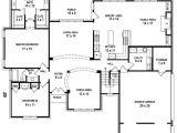 5 Bed 3 Bath House Plans 654206 5 Bedroom 4 Bath House Plan House Plans Floor