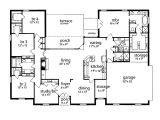 5 Br House Plans Floor Plan 5 Bedrooms Single Story Five Bedroom Tudor