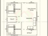 500 Sf House Plans 500 Square Feet House Plan with Elevation Architecture