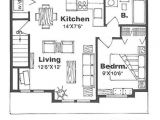 500 Square Foot Home Plans Farmhouse Style House Plan 1 Beds 1 Baths 500 Sq Ft Plan