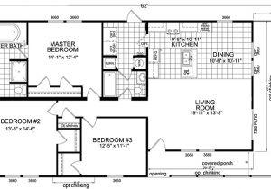 55 Wide House Plans Double Wide Floor Plans 3 Bedroom Gurus Floor