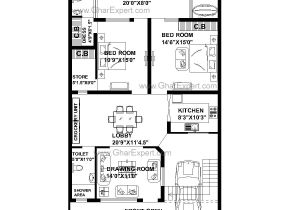 55 Wide House Plans House Plan for 33 Feet by 55 Feet Plot Plot Size 202