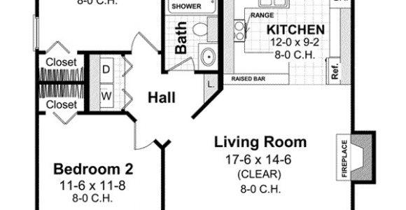 800 Sqft 2 Bedroom 2 Bath House Plans Country House Plan 2 Bedrooms 1 Bath 800 Sq Ft Plan 2 109