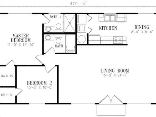 800 To 1000 Sq Ft House Plans 1000 Square Foot House Plans 1 Bedroom