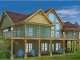 Adirondack Style Home Plans Mountain House with Open Floor Plan by Max Fulbright Designs