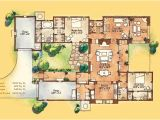 Adobe Style Home Plans Adobe Style Home with Courtyard Santa Fe Style Meets