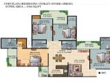 Ajnara Homes Noida Extension Floor Plan Ajnara Homes Floor Plan 4bhk 4toilet 1960 Sqft Projects
