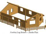 Alaska Log Home Plans Alaska Floor Plan 888 Square Feet Cowboy Log Homes