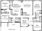 American Home Builders Floor Plans Manchester Ii by All American Homes Ranch Floorplan