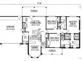 American House Designs and Floor Plans Affordable American Country Home 7472rd 1st Floor