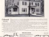 Antique Colonial House Plans 1922 Colonial Revival 1920s Kit Houses by Bennett Homes