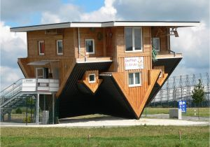Architecture Home Plans Unique Inverted Architectural House Design with Wooden