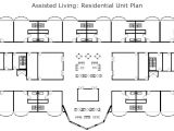 Assisted Living Home Floor Plan assisted Living Residential Unit Plan