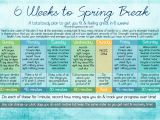 At Home Work Out Plan 6 Weeks to Spring Break at Home Workout Plan Pieces