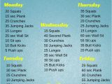 At Home Work Out Plan Beginner Workout Plan at Home