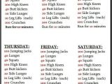 At Home Work Out Plan Best 25 Weekly Workout Plans Ideas On Pinterest