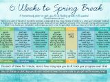 At Home Work Out Plans 6 Weeks to Spring Break at Home Workout Plan Pieces