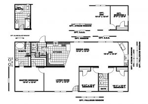 Atlantis Homes Floor Plans Manufactured Home Floor Plan 2007 Clayton atlantis